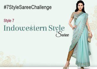 Style 7 Indowestern saree draping